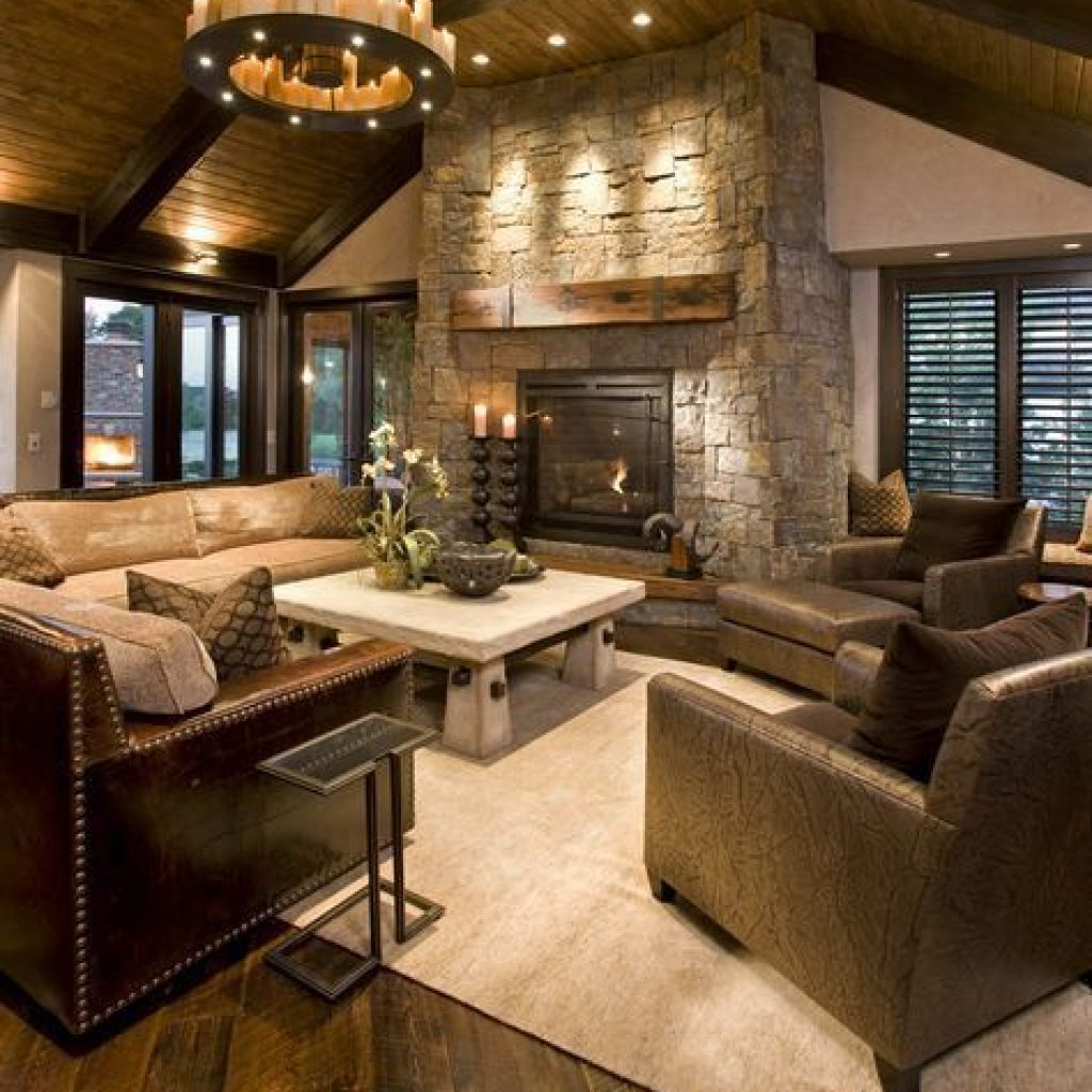 rustic design living room