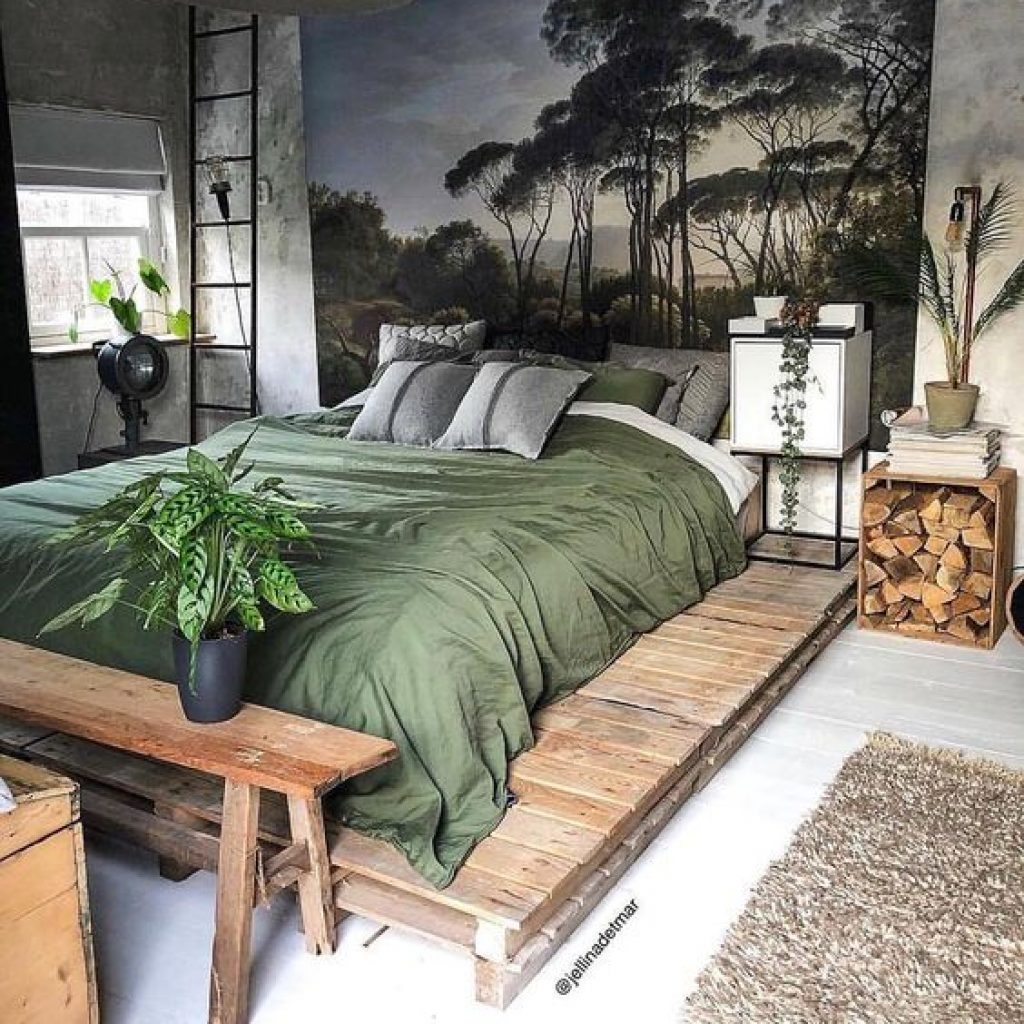rustic design in bedroom
